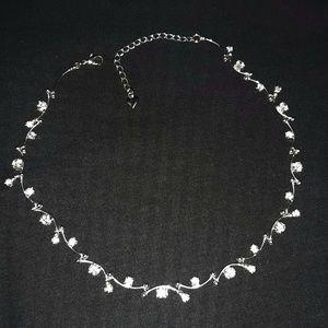 """Elegant Rhinestone Necklace GLAM 18"""""""
